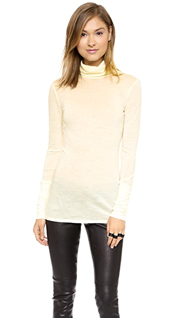 Helmut Lang Shield Jersey Turtleneck