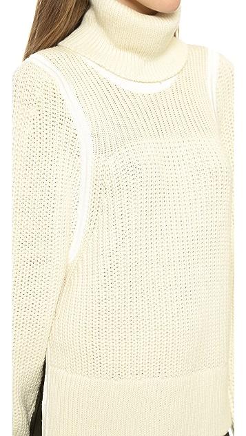 Helmut Lang Slit Sleeve Heavy Pullover