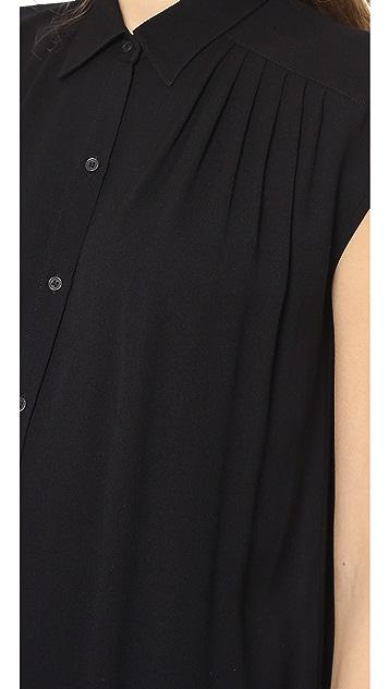 Helmut Lang Button Down Shirtdress