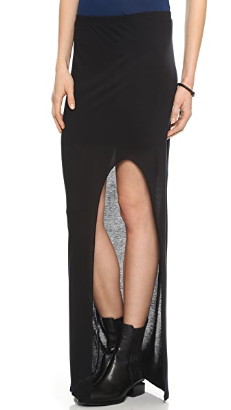 Helmut Lang Slit Maxi Skirt