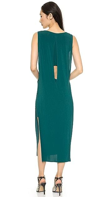 Helmut Lang High Slit Dress