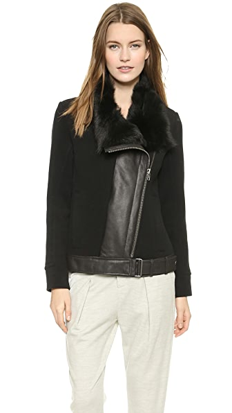 Helmut Lang Shearling Collar Jacket