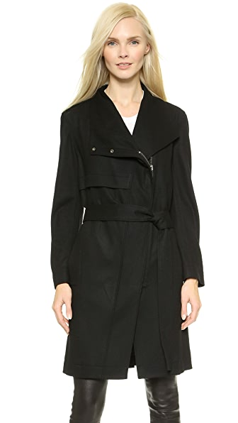 Helmut Lang Sonar Wool Trench Coat