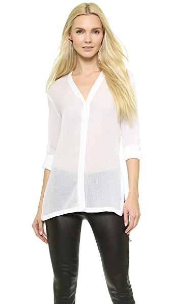 Helmut Lang Swift Button Down Blouse