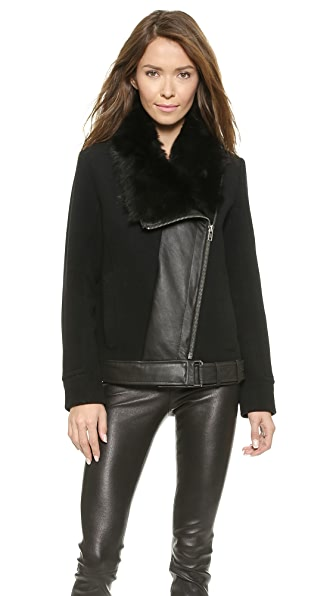 Helmut Lang Fur Collar Jacket