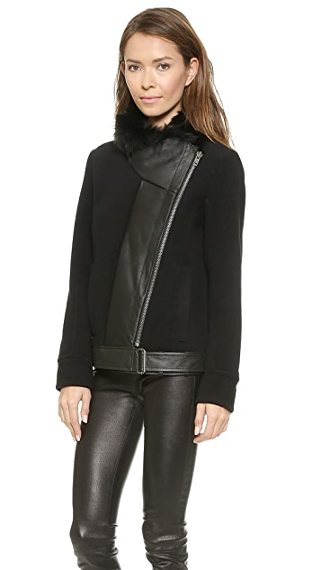 Helmut Lang Fur Collar Jacket