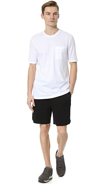 Helmut Lang Padded Jersey Running Shorts