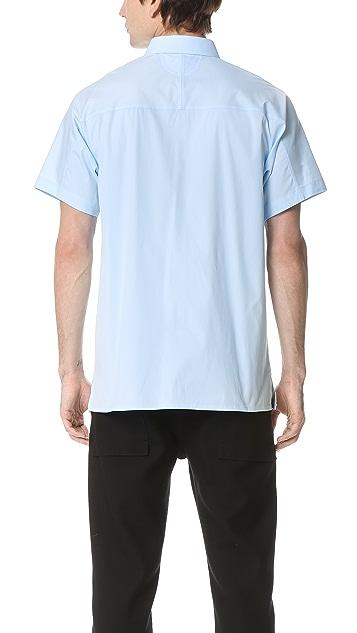 Helmut Lang Pocket Tab Stretch Short Sleeve Shirt