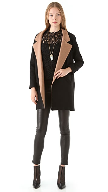 Heidi Merrick Jeffrey's Coat with Tan Collar