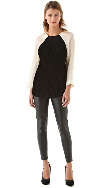 Heidi Merrick Brummel Faux Leather Pants