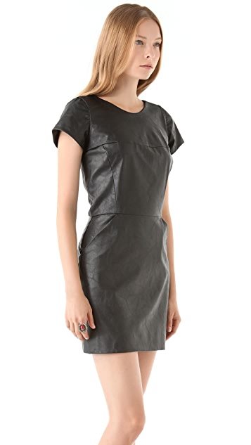 Heidi Merrick Savvy Faux Leather Dress