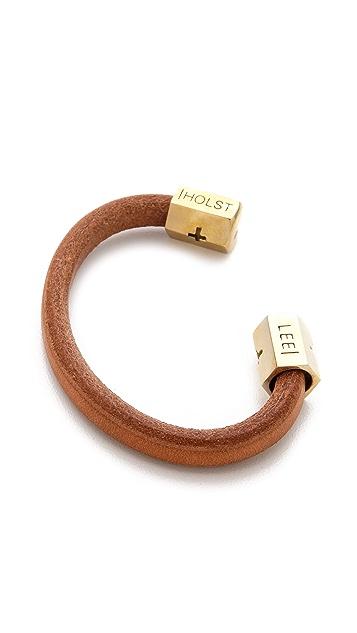 Holst + Lee Flat Leather Bracelet