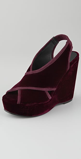 HOSS Velvet Wedge Sandals