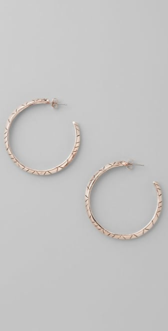 House of Harlow 1960 Rose Gold Plated Hoops