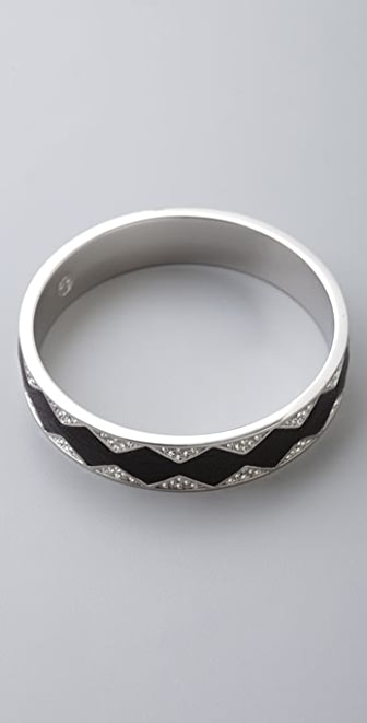 House of Harlow 1960 Crystal & Leather Bangle