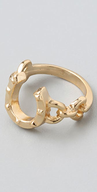 House of Harlow 1960 Horseshoe Stacking Ring