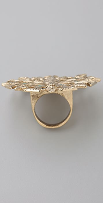 House of Harlow 1960 Peacock Cocktail Ring