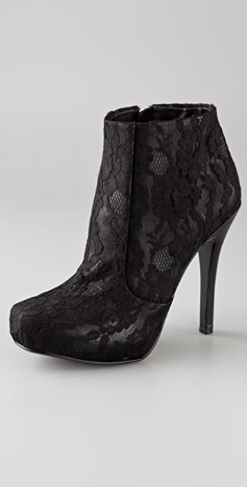 House of Harlow 1960 Leslie Lace Overlay Booties
