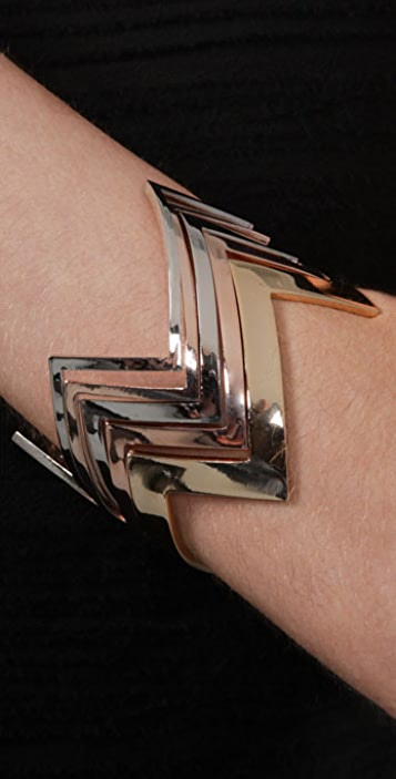 House of Harlow 1960 Five Stack Jagged Bracelets