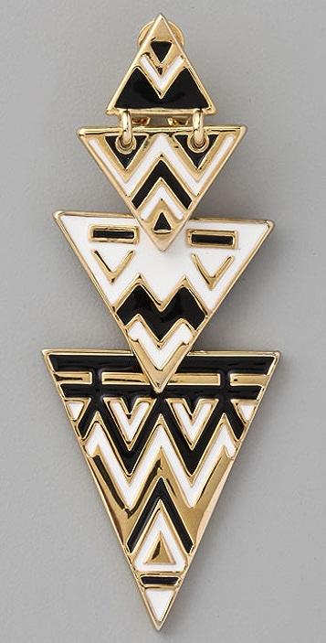 House of Harlow 1960 Tribal Drop Earrings