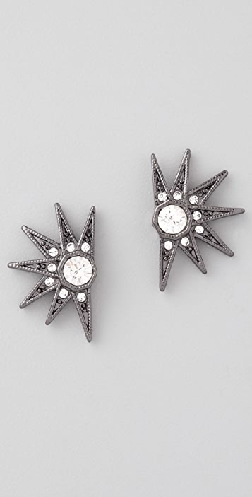 House of Harlow 1960 Pave Stargazer Earrings