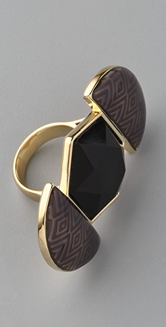 House of Harlow 1960 Resin Hexagon Ring