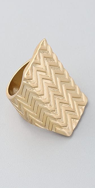 House of Harlow 1960 Textured Wrap Ring