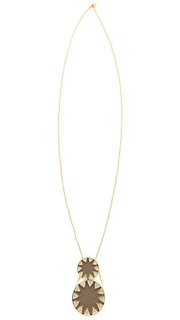 House of Harlow 1960 Double Sunburst Station Necklace