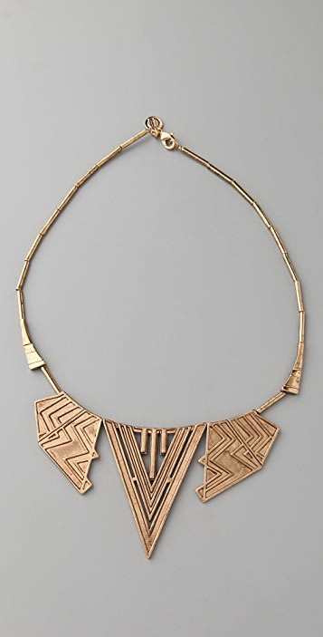 House of Harlow 1960 Chevron Station Necklace