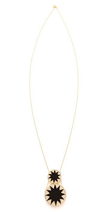 House of Harlow 1960 Double Sunburst Pendant Necklace