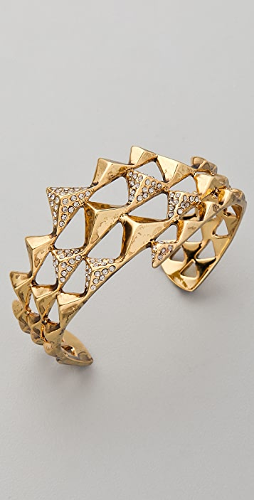 House of Harlow 1960 Pyramid Pave Wrap Cuff