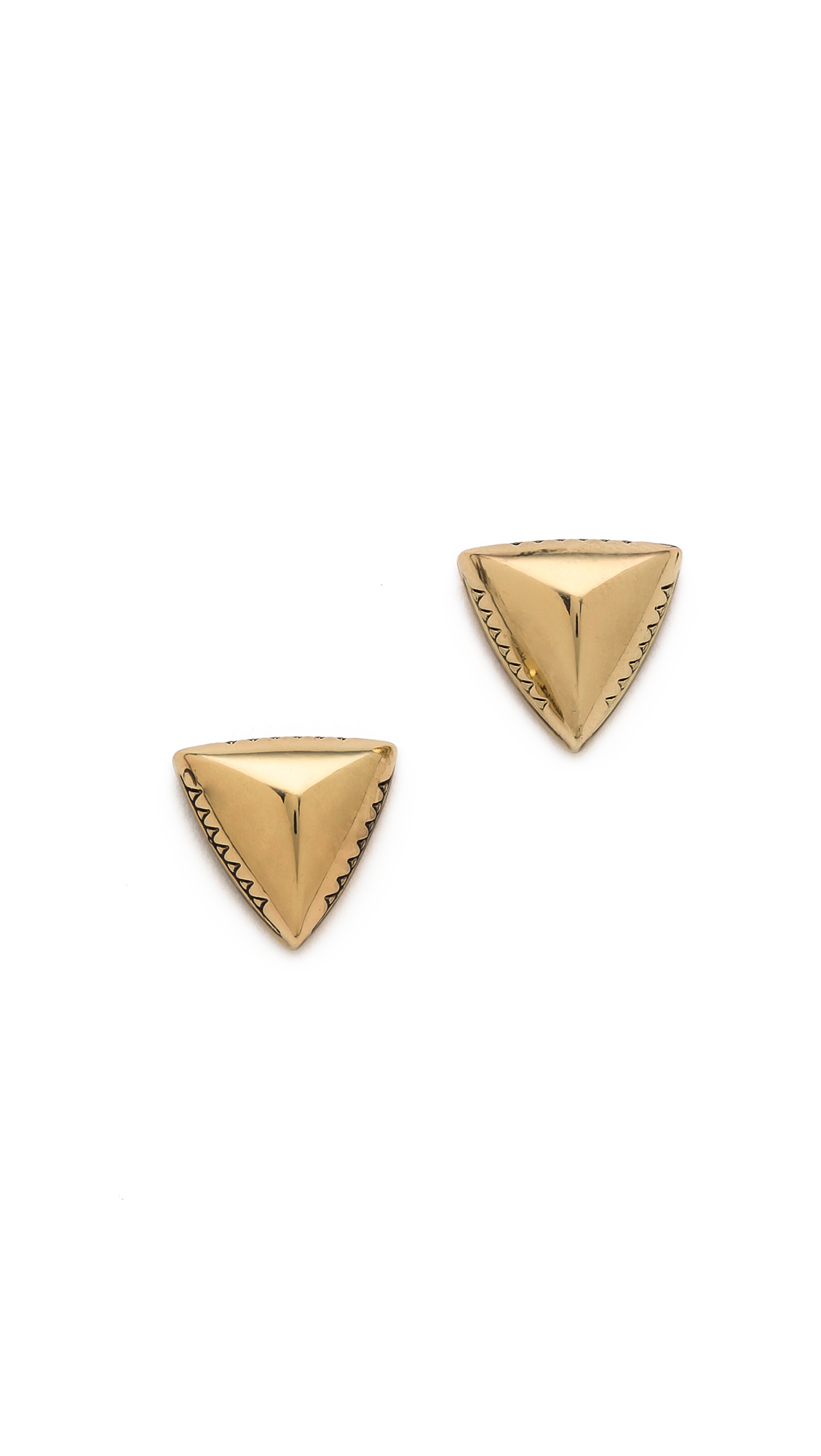 pyramid jewelry geometric earrings diamond ben bridge jacket stud with