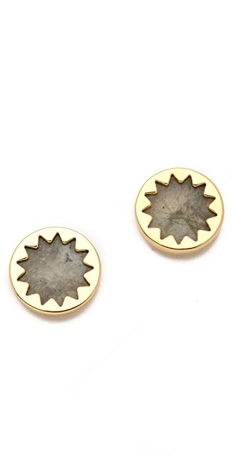 House of Harlow 1960 Labradorite Sunburst Stud Earrings