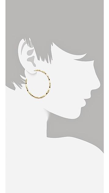 House of Harlow 1960 Bone Hoop Earrings