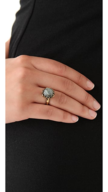 House of Harlow 1960 Stone Top Skull Ring