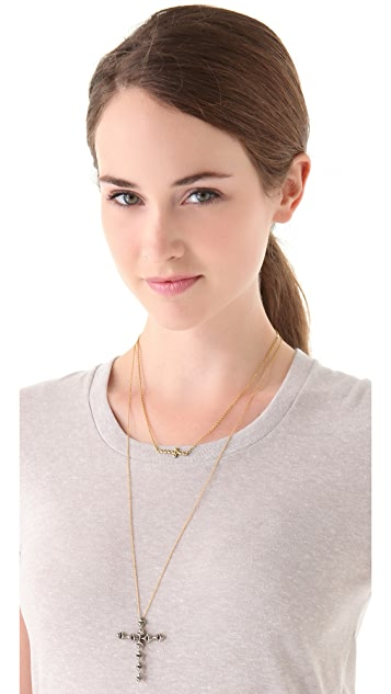 House of Harlow 1960 Faceted Cross Necklace