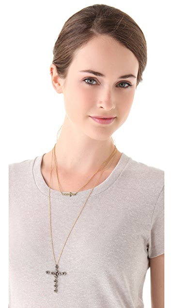House of Harlow 1960 Cross Pendant Necklace