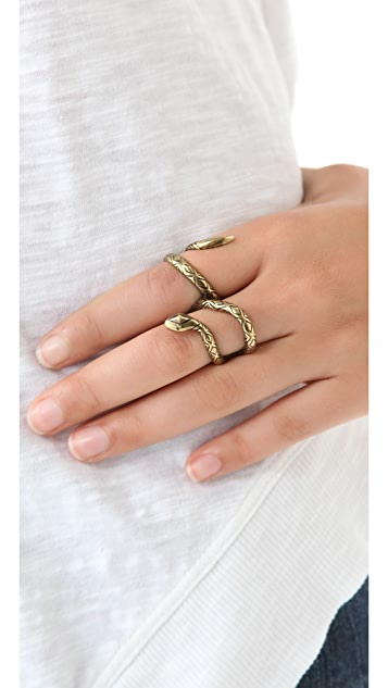 House of Harlow 1960 Snake Double Finger Ring