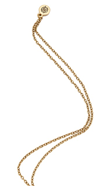 House of Harlow 1960 Engraved Skull Necklace
