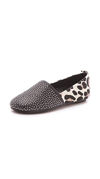 House of Harlow 1960 Haircalf Stud Kye Flats