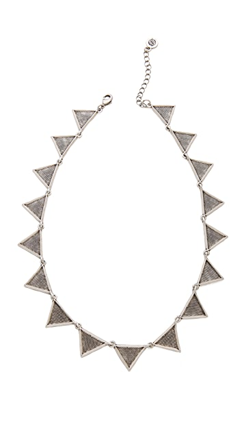 House of Harlow 1960 Crosshatched Triangle Collar Necklace