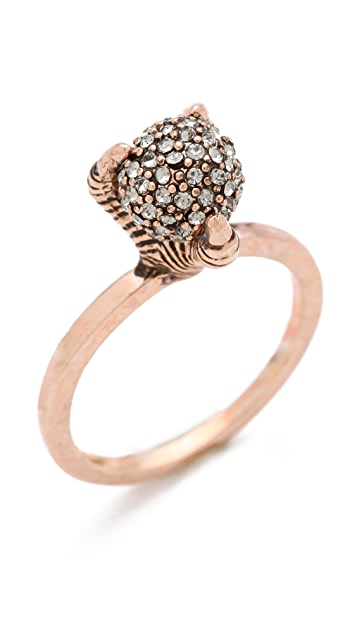House of Harlow 1960 Talon Crystal Ring
