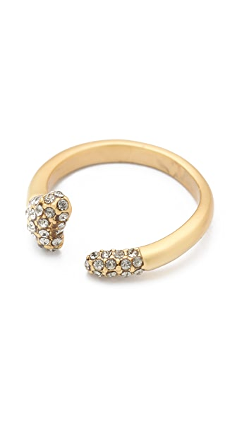 House of Harlow 1960 Pave Dipped Bone Ring
