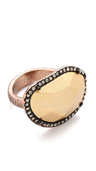 House of Harlow 1960 Horizontal Sahara Sand Ring