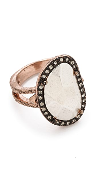 House of Harlow 1960 Vertical Sahara Sand Ring