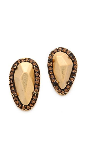 House of Harlow 1960 Rif Pebble Stud Earrings