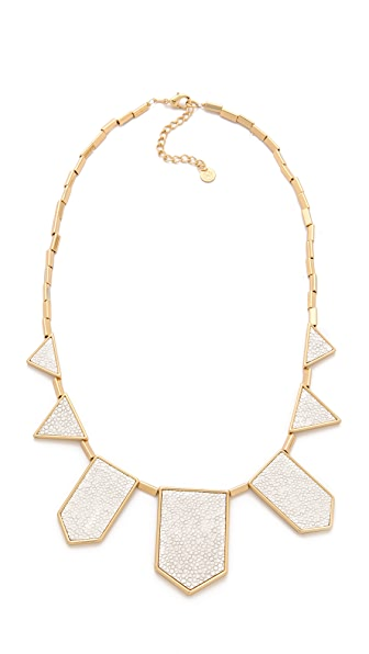 House of Harlow 1960 White Sand Five Station Necklace