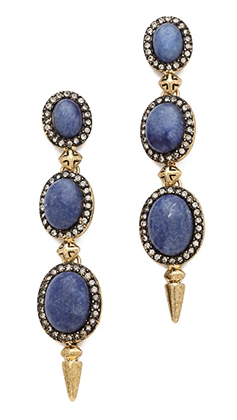House of Harlow 1960 Blue Star Drop Earrings