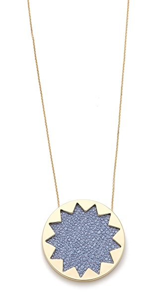 House of Harlow 1960 Blue Star Sunburst Necklace