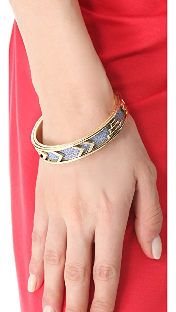House of Harlow 1960 Blue Star Aztec Bangle